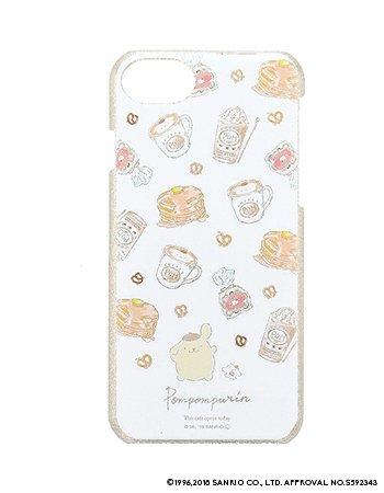 POMPOMPURIN / 水彩ラメケース(iPhone8/7/6s)