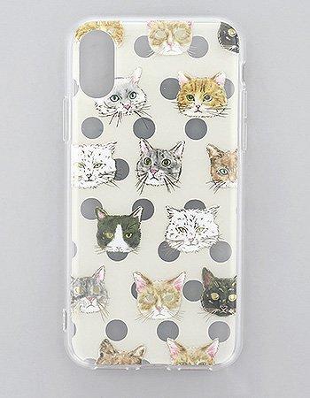 Cat Face / ハイブリッドケース(iPhoneXR)