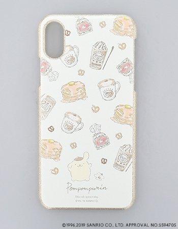 POMPOMPURIN / 水彩ラメケース(iPhoneX/Xs)