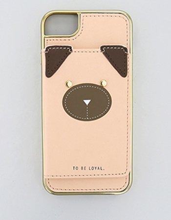 イヌフェイス BE / 異素材ケース(iPhone8/7/6s/6)
