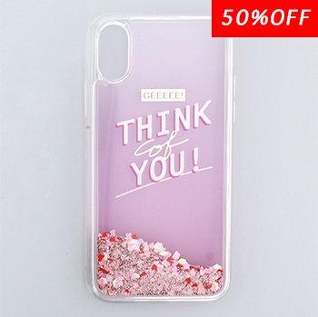THINK YOU / ラメムーブケース(iPhoneX/Xs)