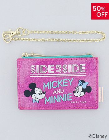 <img class='new_mark_img1' src='https://img.shop-pro.jp/img/new/icons14.gif' style='border:none;display:inline;margin:0px;padding:0px;width:auto;' />DISNEY / ラメパスポーチ(PK)