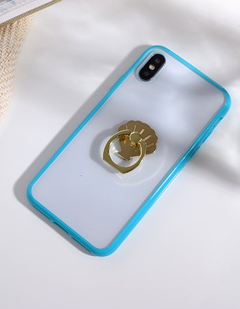 ブルー / ハイブリッドケース(iPhoneX/Xs)