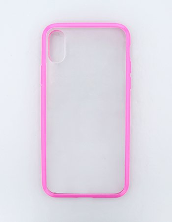 ピンク / ハイブリッドケース(iPhoneX/Xs)