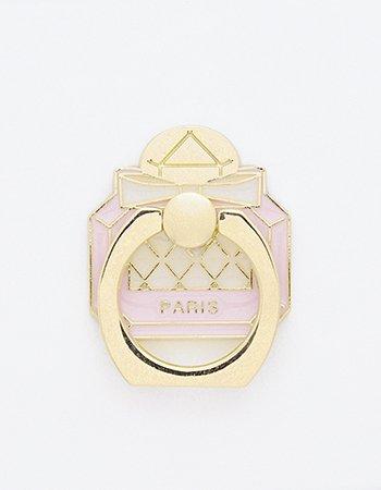 パステル香水瓶(ピンク)/ スマホリング