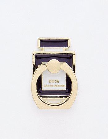 香水瓶(ブラック)/ スマホリング