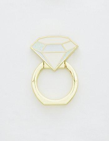 ダイヤ指輪(ホワイト)/ スマホリング