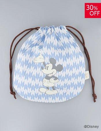 DISNEY /wa巾着袋 和柄(ブルー)
