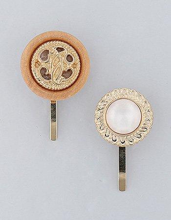 ボタン2個セット(B)/ ポニーフック