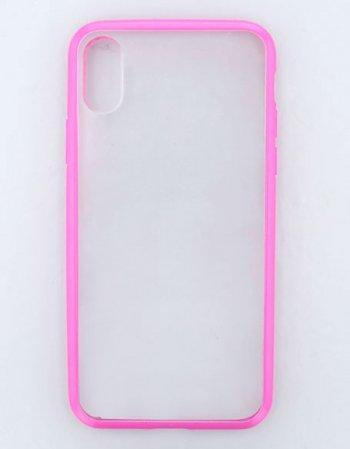 ピンク/ ハイブリッドケース(iPhoneXR)