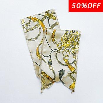 スカーフ柄(BE)/ マルチスカーフ
