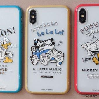 DISNEY / ミッキーとミニー ハイブリットケース(iPhoneX/Xs)