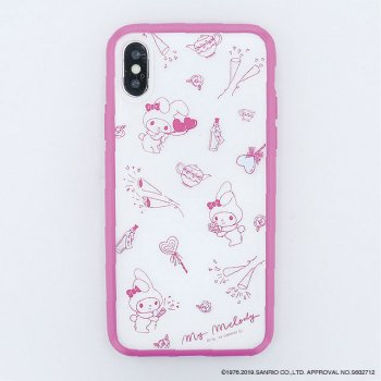 <img class='new_mark_img1' src='https://img.shop-pro.jp/img/new/icons14.gif' style='border:none;display:inline;margin:0px;padding:0px;width:auto;' />MY MELODY / Partyハイブリットケース(iPhoneX/Xs)