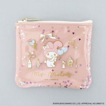 <img class='new_mark_img1' src='https://img.shop-pro.jp/img/new/icons14.gif' style='border:none;display:inline;margin:0px;padding:0px;width:auto;' />MY MELODY /ラメフレークポーチ
