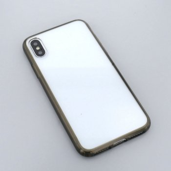 ブラッククリア/ハイブリッドケース(iPhoneX/Xs)