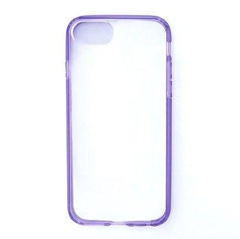 iPhone8ケース|パープルクリア|フラワーリング