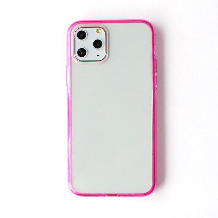ピンククリア/ ハイブリッドケース(iPhone11 Pro)