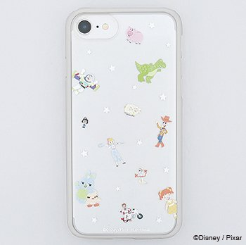<img class='new_mark_img1' src='https://img.shop-pro.jp/img/new/icons14.gif' style='border:none;display:inline;margin:0px;padding:0px;width:auto;' />TOY STORY4 /仲間たち集合(GY)/ハイブリットケース(iPhone8/7/6s)