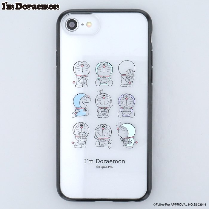 <img class='new_mark_img1' src='https://img.shop-pro.jp/img/new/icons14.gif' style='border:none;display:inline;margin:0px;padding:0px;width:auto;' />  I'm DORAEMON (BK)  / iPhone8/7/6sケース
