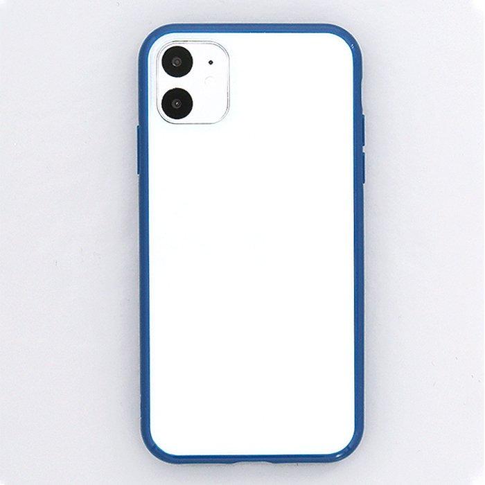 ネイビー/ハイブリッドケース(iPhone11/XR兼用)