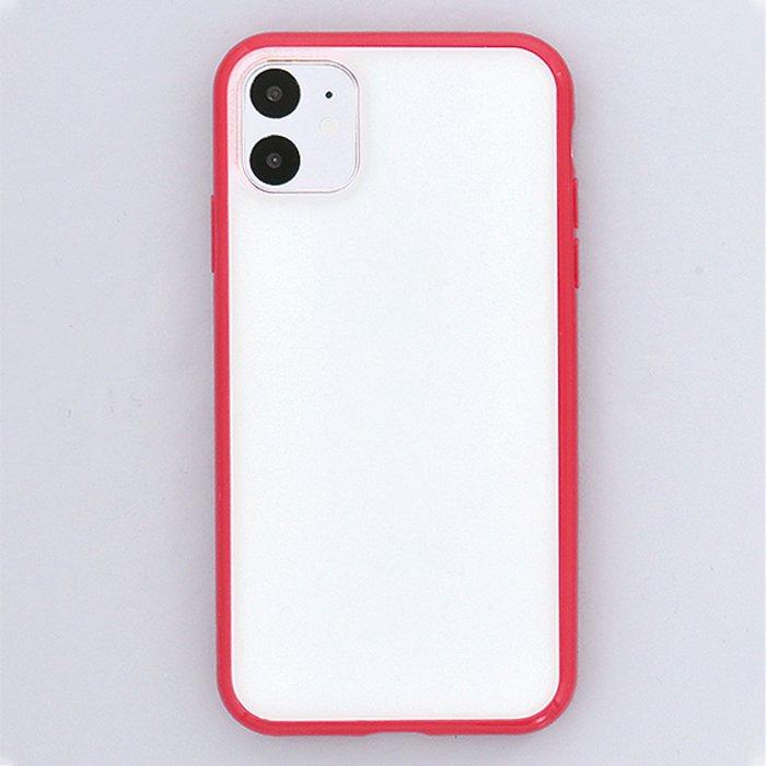 レッド/ハイブリッドケース(iPhone11/XR兼用)