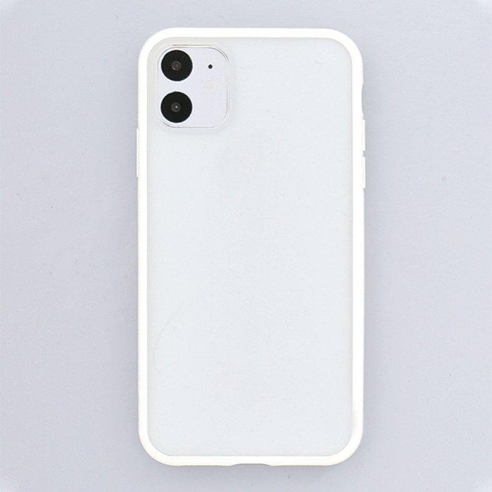 ホワイト/ハイブリッドケース(iPhone11/XR兼用)