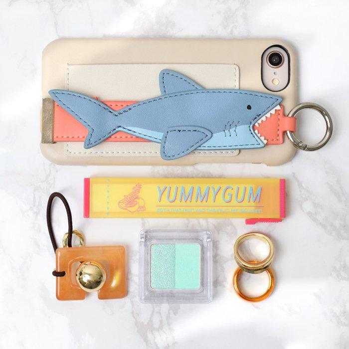 【 再入荷!】サメ(BE) / バンド付きケース(iPhone8/7/6s/6/SE兼用)