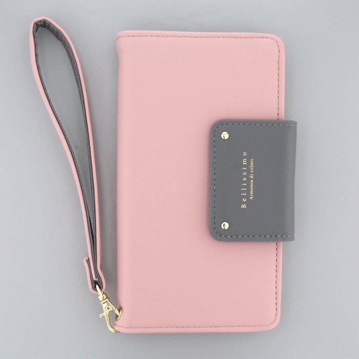 バイカラー× ピンク(PK)/  ブックレットケース(マルチ対応)
