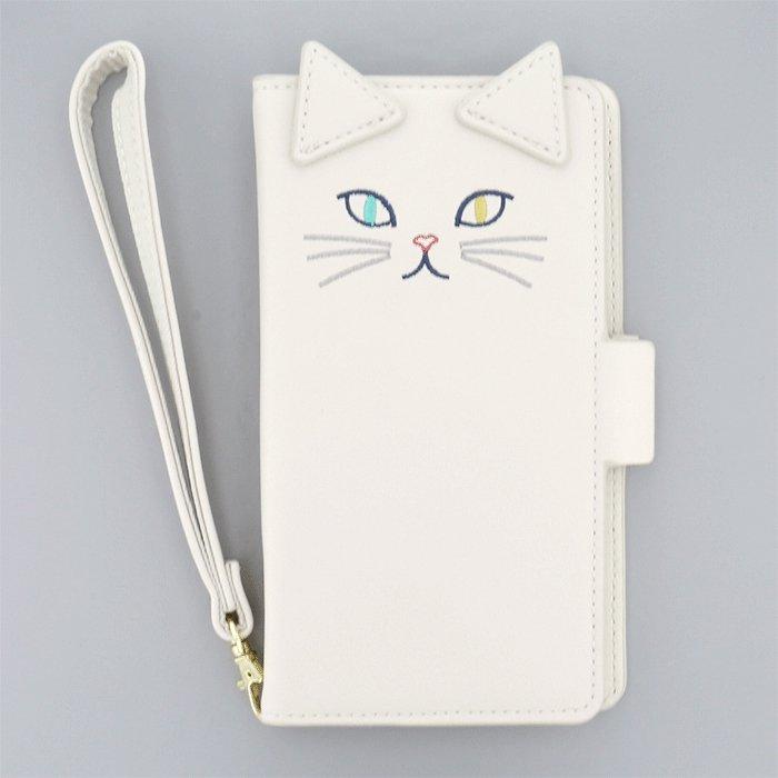 白ネコダイカット(WH)/  ブックレットケース(マルチ対応)
