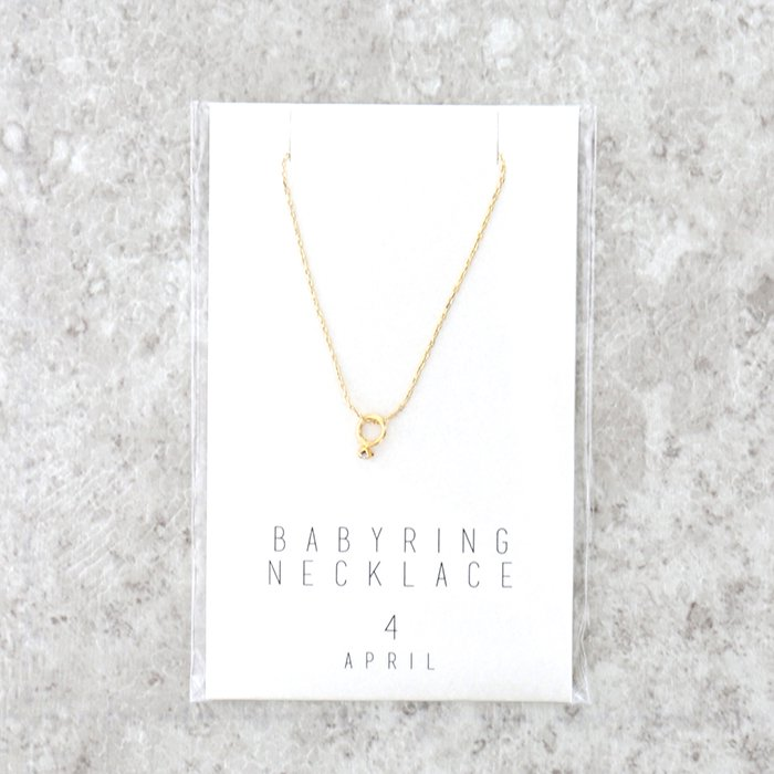 BABY RING(4月)/ネックレス