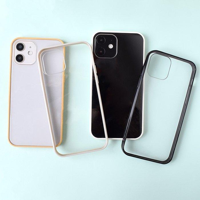 シンプルフレーム×クリア/ハイブリッドケース(iPhone12/12Pro)