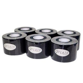 【6巻セット】 カラーキネシオテープ 50mm x 5.0M ブラック