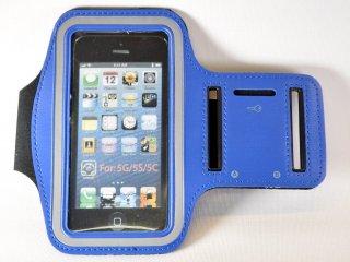 iPhone アームバンド 【ブルー】 (iPhone 5/5s/5c/4/4s 対応)