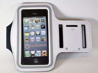 iPhone アームバンド 【ホワイト】 (iPhone 5/5s/5c/4/4s 対応)