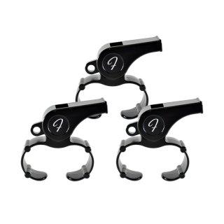 【3個セット】FLAIR (フレア) フィンガーグリップホイッスル(ブラック) / Fingergrip Whistle