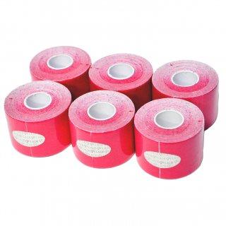 【6巻セット】 カラーキネシオテープ 50mm x 5.0M ピンク