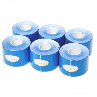 【6巻セット】 カラーキネシオテープ 50mm x 5.0M ライトブルー