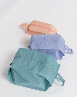 3D ZIP POUCH  S/M/L3個セット  パステル