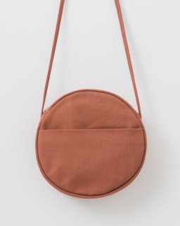 CANVAS CIRCLE PURSE M テラコッタ