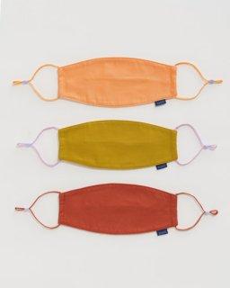 布製マスク(3枚セット)  クレイ
