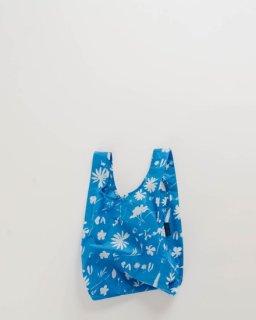 BABY BAGGU サンプリントフラワー ブルー