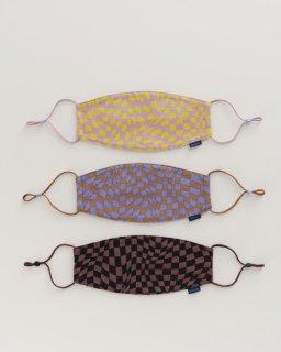 布製マスク(3枚セット)  TRIPPY CHECKERS