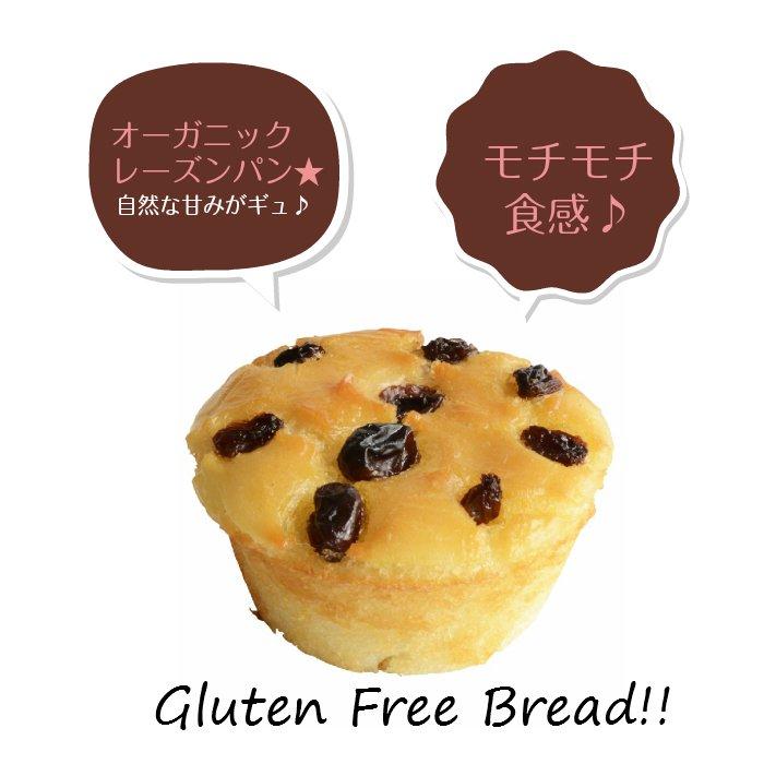 グルテンフリー・無添加・天然酵母 米粉パン オーガニックレーズン 1個