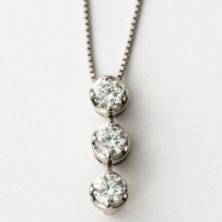 K18WG ダイヤモンド・トリロジー・2WAY・ペンダント