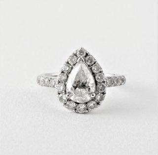K18WG ダイヤモンド・リング