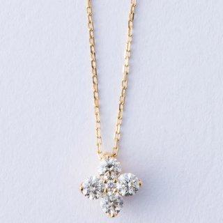 K18YG フラワー・ダイヤモンドペンダント