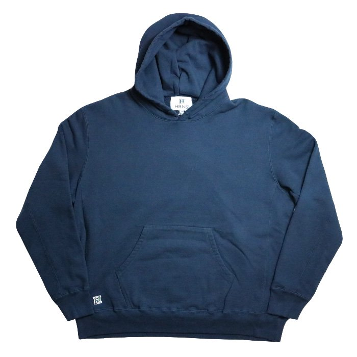 HBNS | BIG FOODED SWEAT PARKA - NAVY