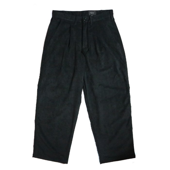 superNova. | Wide Pant - Super Fine Fake Suede-BLACK