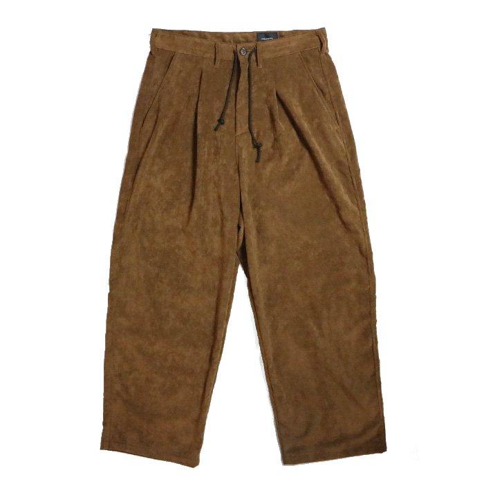 superNova. | Wide Pant - Super Fine Fake Suede-BROWN