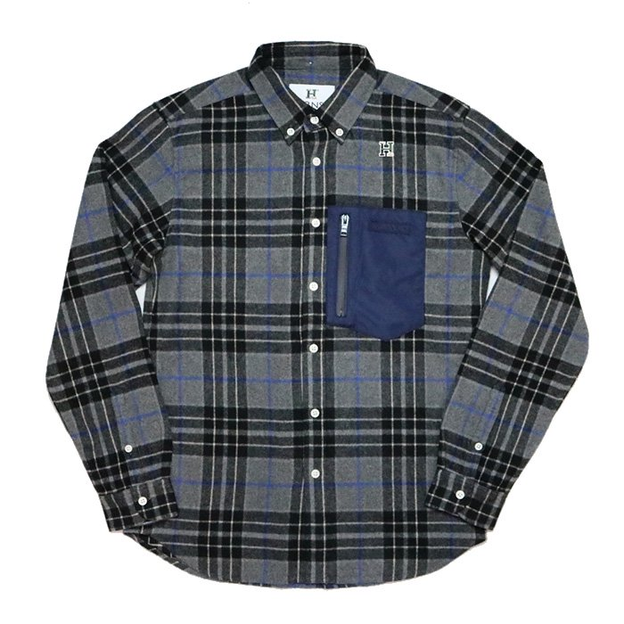 HBNS | FLANNEL OUTDOOR POCKET SHIRTS-GRAY